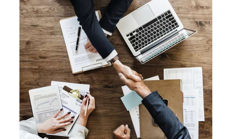 Handshake makes for better deals in business