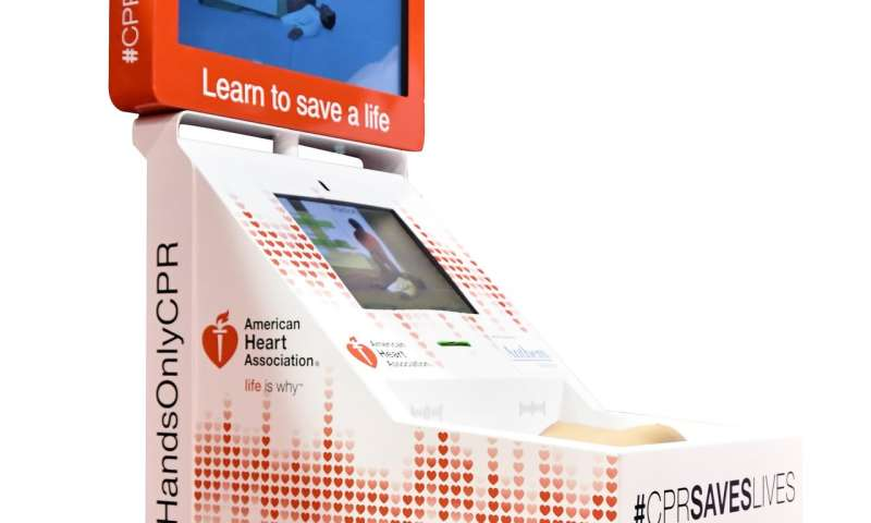 Hands-only CPR training kiosks can increase bystander intervention, improve survival
