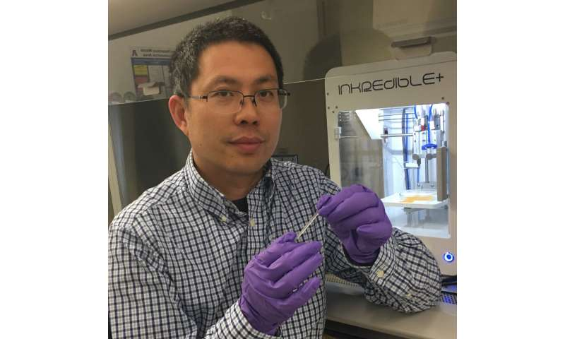 Highly elastic biodegradable hydrogel for bioprinting of new tissues