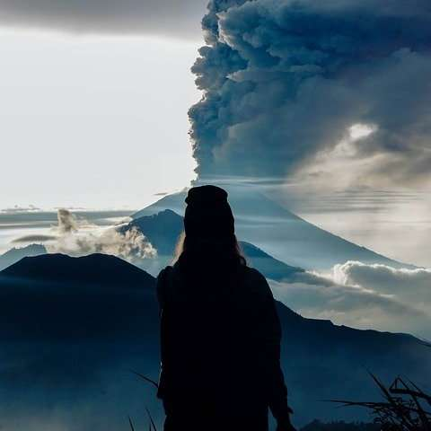 How does the Pacific Walker circulation respond to strong tropical volcanism?