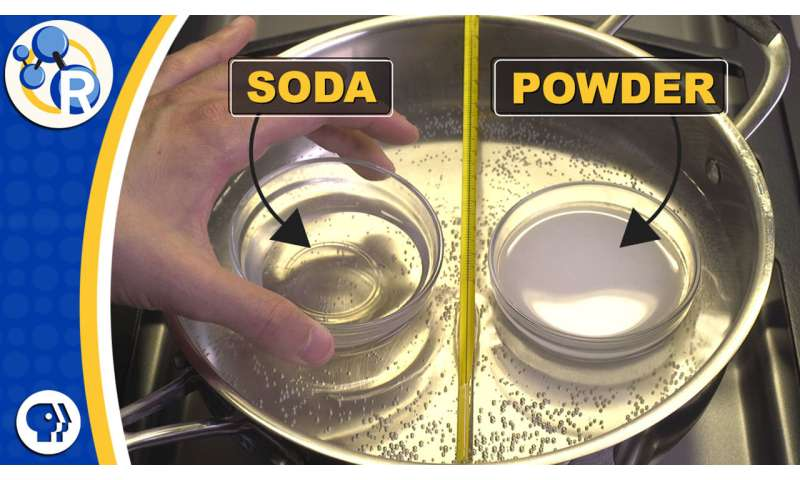 How 'double-acting' baking powder acts twice (video)