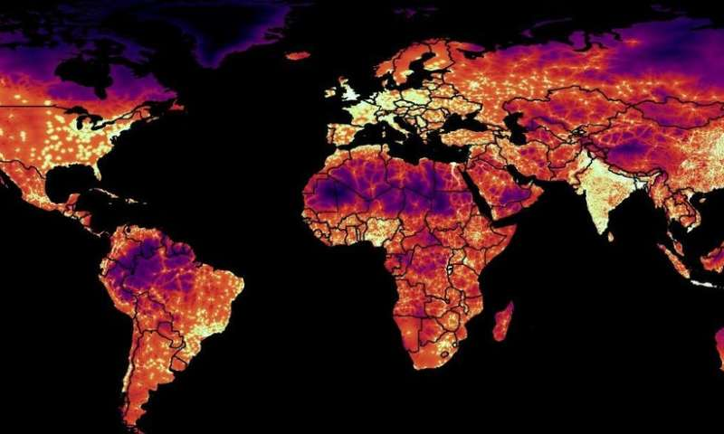 How far to the nearest city? Global map of travel time to cities published