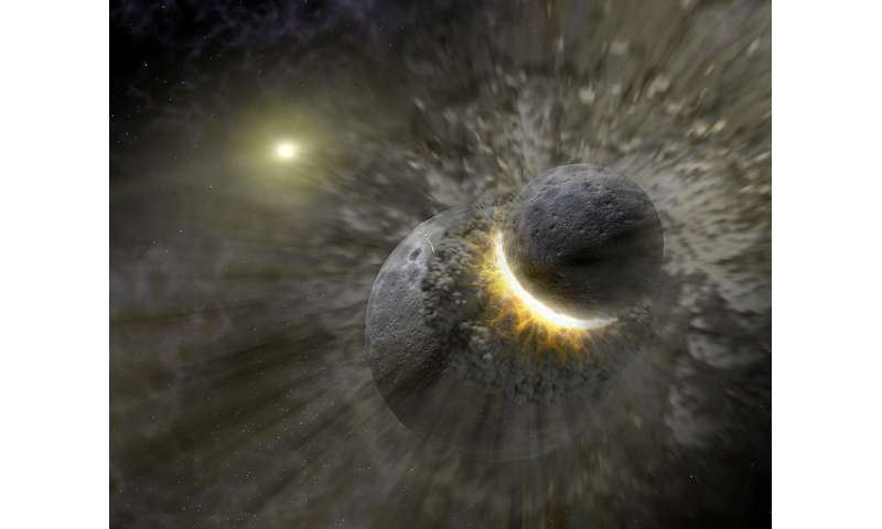 How many of earth's moons crashed back into the planet?