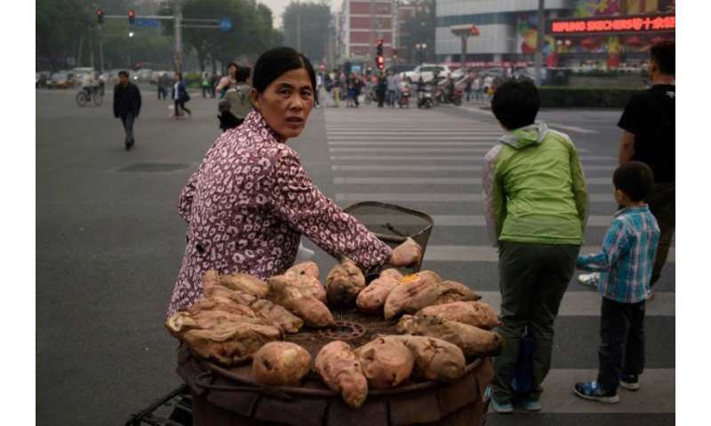 How sweet potatos, seen here hauled by a street vendor in Bejing, spread from South America to Polynesia centuries ago is the su