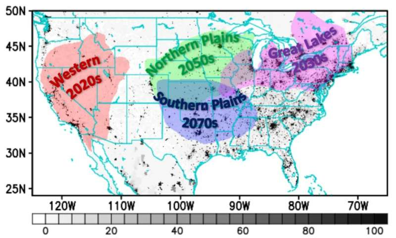 Human influence on climate change will fuel more extreme heat waves in US