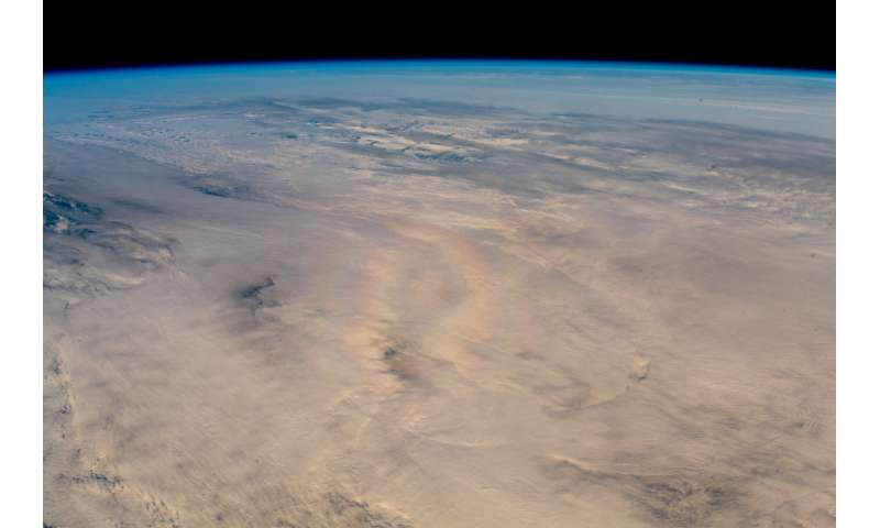 Image: A rare optical phenomenon spotted from orbit