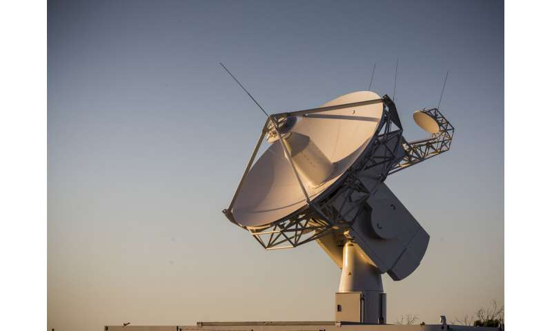 Image: Australian antenna ready to hear Aeolus' first words