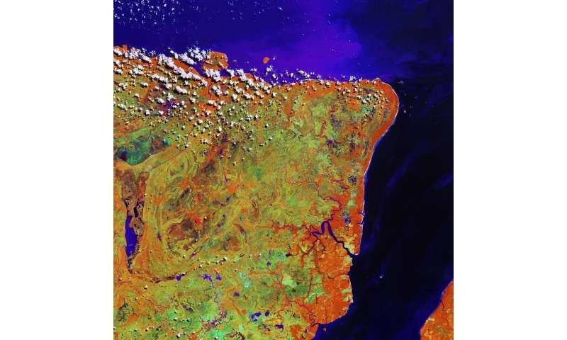 Image: Copernicus Sentinel-2A satellite captures northern Brazil's Marajó island