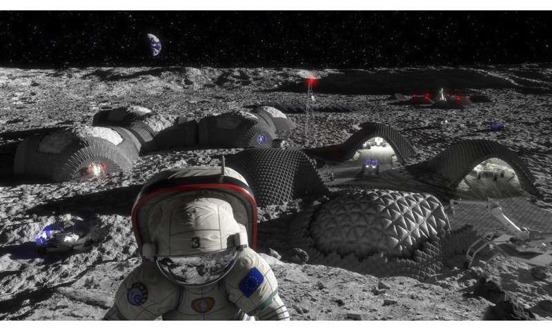 Image: Future moon base