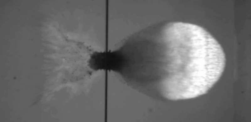 Image: Hypervelocity impact testing