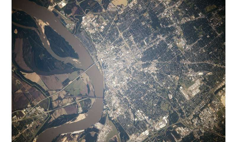 Image: Memphis from space