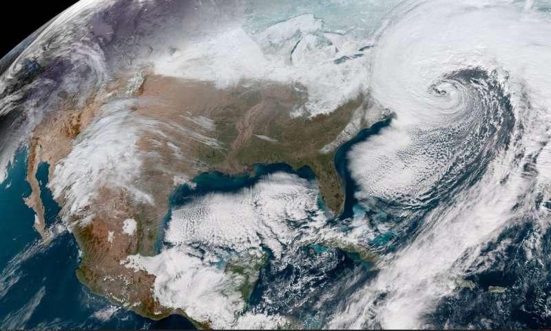 Image: NOAA's GOES-16 satellite captures powerful East Coast storm