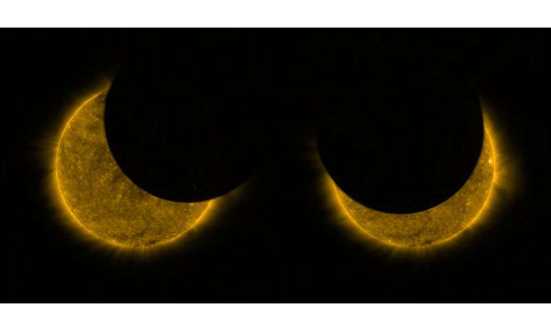 Image: Partial solar eclipse from space