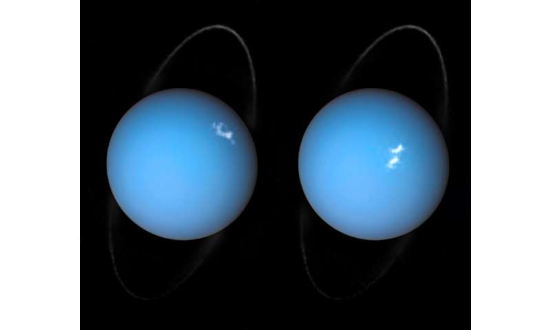 Image: Polar lights on Uranus