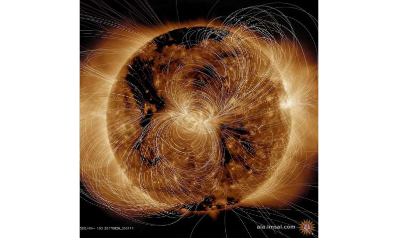 Image: Sun's magnetic field modeled