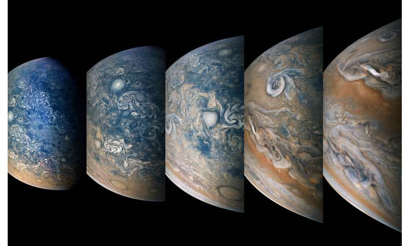 Image: Time-lapse sequence of Jupiter's north
