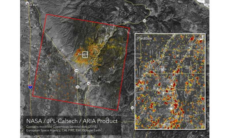 Image: Updated NASA damage map of Camp Fire from space