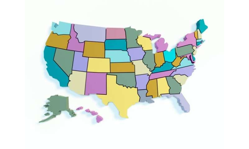 Increased coverage in states with medicaid expansion