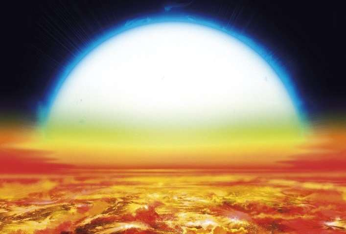 Iron and titanium in the atmosphere of an exoplanet