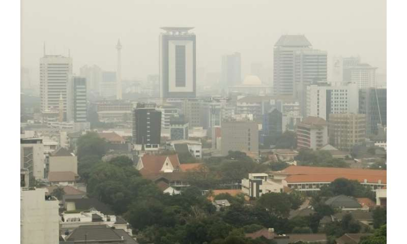 Jakarta is notorious for its air pollution and traffic jams