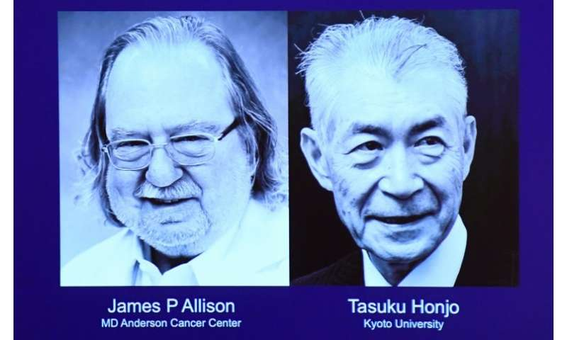 US, Japan duo win Nobel Medicine Prize for cancer therapy