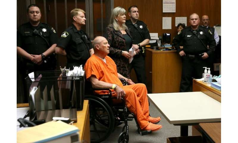 "Joseph James DeAngelo, the suspected ""Golden State Killer"", appears in court"