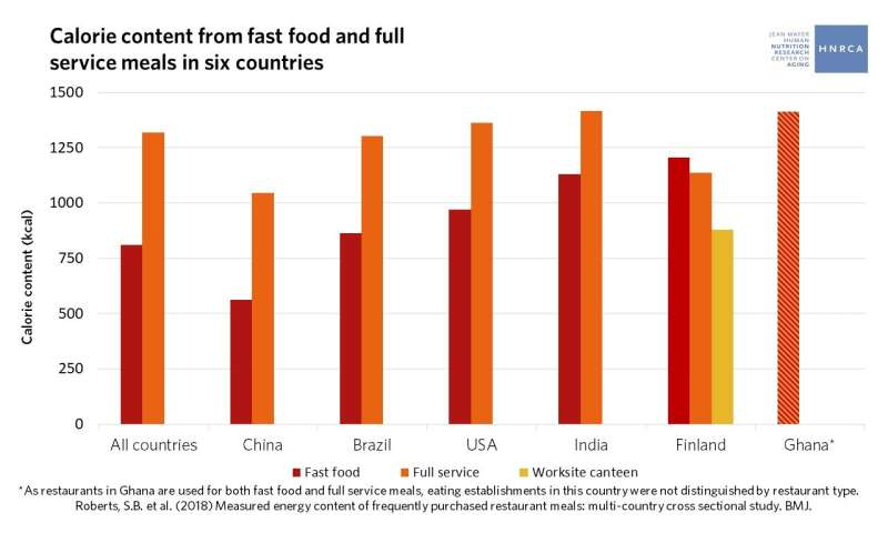 Large restaurant portions a global problem, study finds