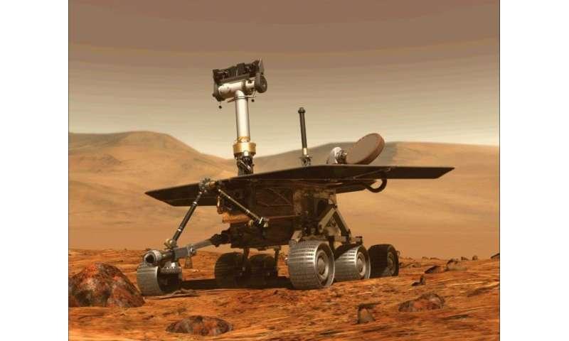 Le rover Opportunity, qui se trouve sur Mars depuis 2004