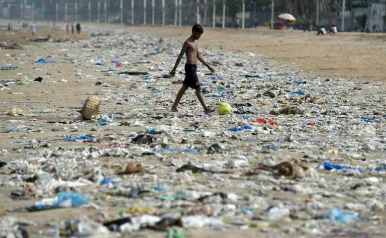 Like many cities in India, Mumbai has long been awash with vast mountains of plastic rubbish