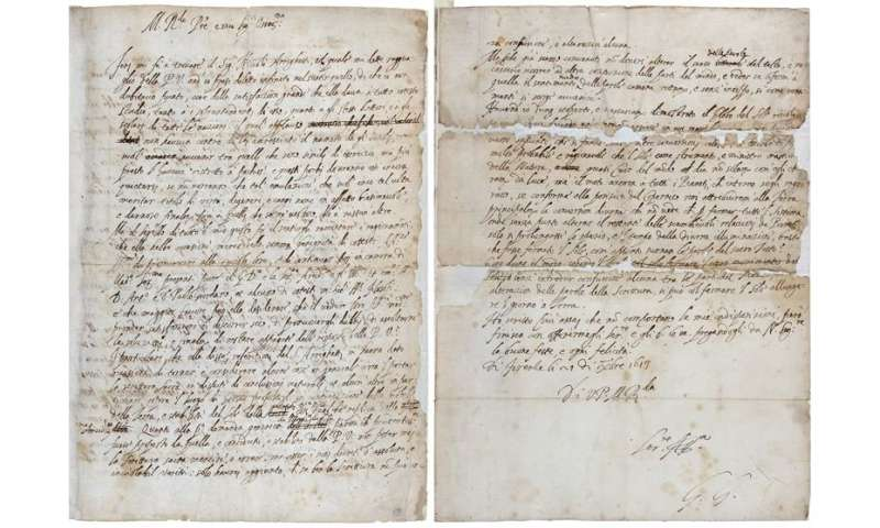 **Long lost Galileo letter found at Royal Society library