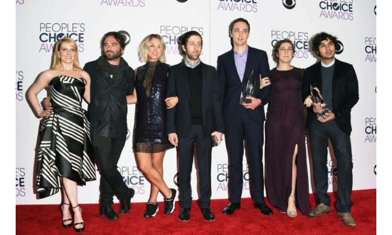 "Long-running CBS comedy ""The Big Bang Theory""—cast members Melissa Rauch, Johnny Galecki, Kaley Cuoco, Simon Helberg,"