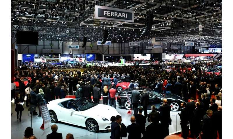 Luxury carmakers will be showing off their wares once again at the Geneva  Motor Show - but healthy profits cannot fully ease co