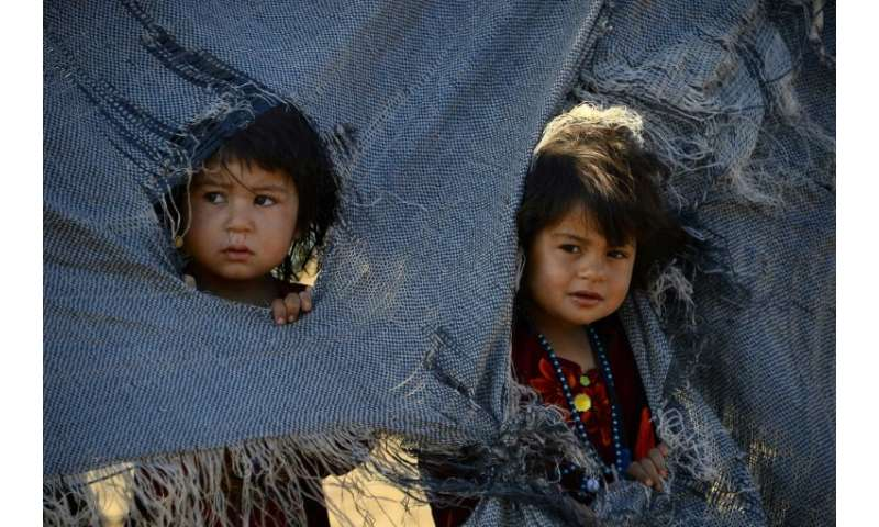 Many Afghans, including children, are living in pitiful, makeshift tents that offer little or no protection against the cold and