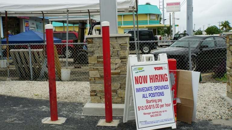 Many employers in the Florida Keys say they are struggling to find workers, after many people fled during last year's hurricane