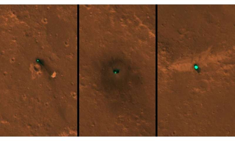 **Mars InSight lander seen in first images from space