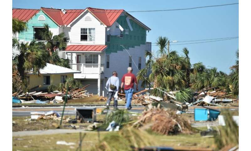 Mexico Beach, a town of just 1,200 people, has been devastated by Hurricane Michael, which made landfall Wednesday as a Category