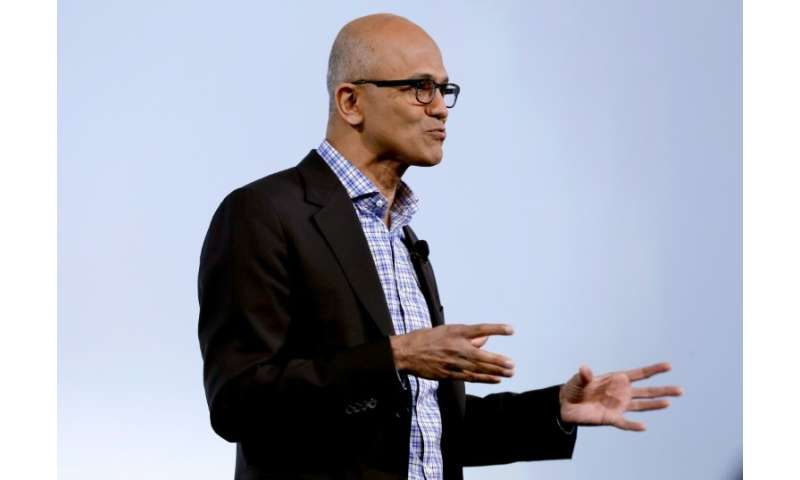 Microsoft chief executive Satya Nadella says the tech giant's investments in cloud computing and other areas have paid off in re