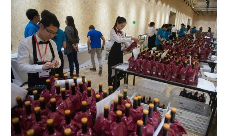 More than 300 experts from around the world gathered at a luxury hotel in Beijing last weekend to taste 9,000 wines from some 50
