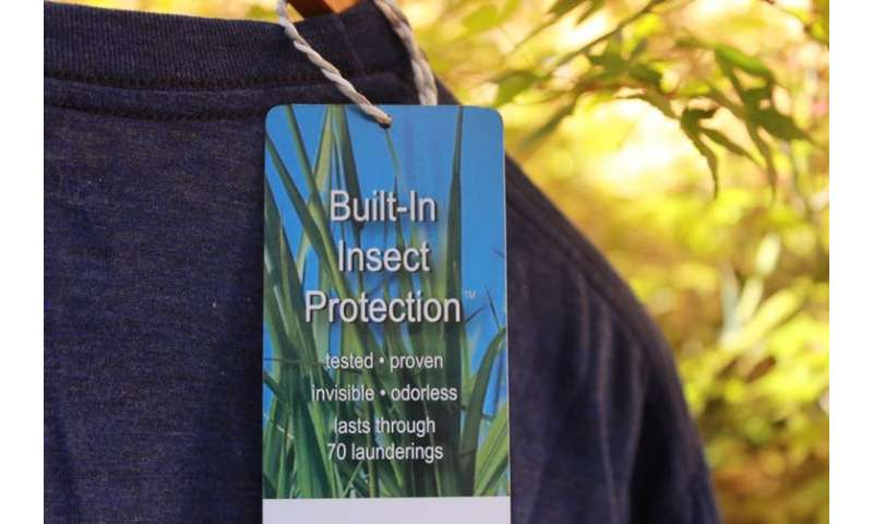 Mosquito-repellent clothing might stop some bites, but you'll still need a cream or spray