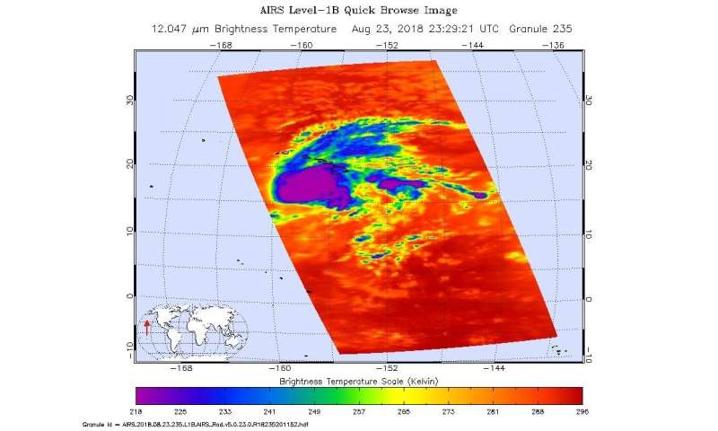 Multiple NASA instruments capture Hurricane Lane
