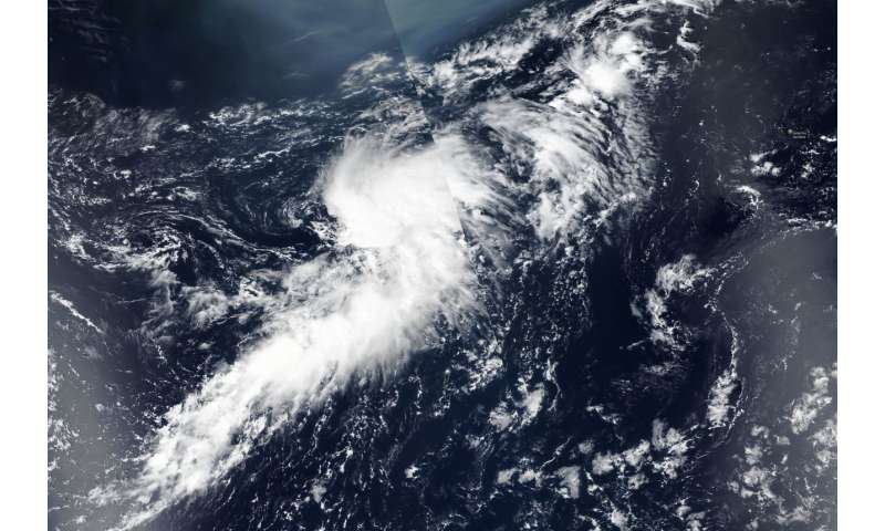 NASA catches formation of fifth Atlantic depression