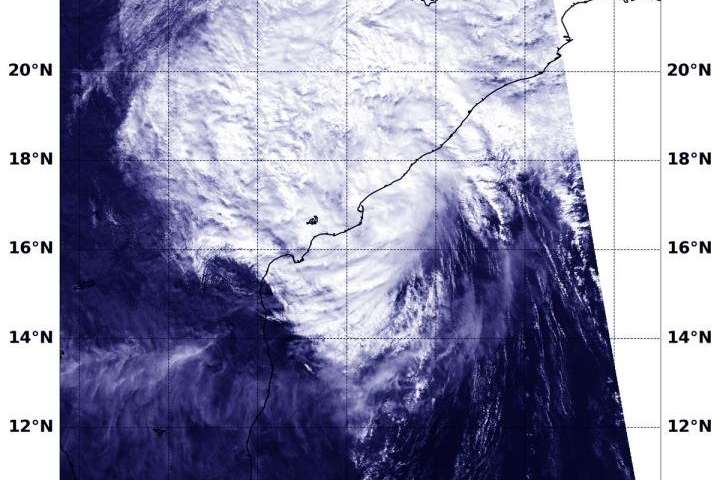 NASA catches India landfall of Tropical Depression Phethai