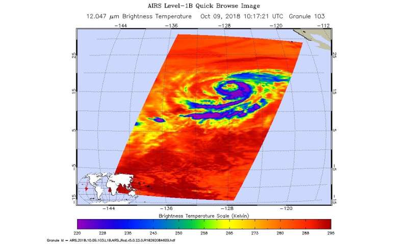 NASA checks out Hurricane Sergio's cloud temperature