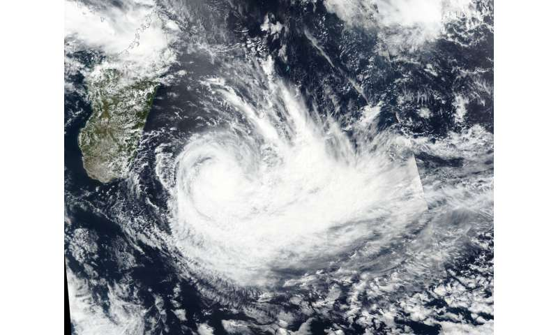 NASA examines Tropical Cyclone Dumazile's flooding rainfall