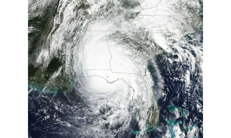NASA eyes Hurricane Michael moving inland