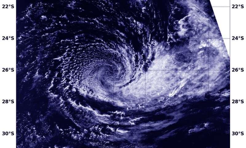 NASA finds a weak and wispy Tropical Cyclone Cebile