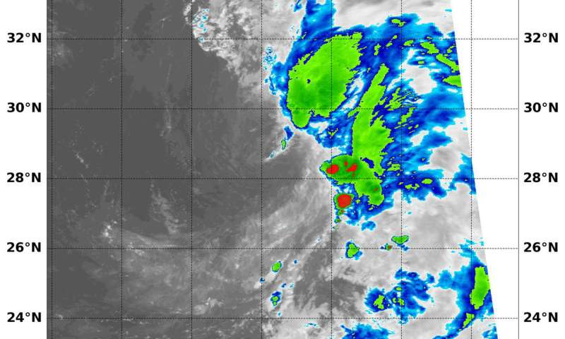 NASA finds development of Tropical Depression 16W