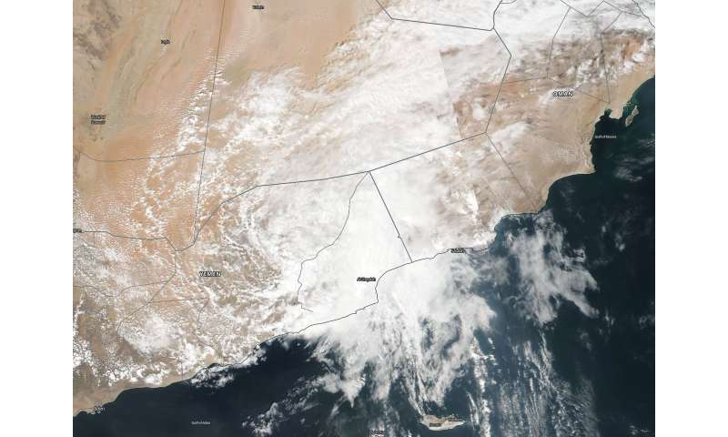 NASA finds remnants of Tropical Cyclone Luban near Yemen/Oman border