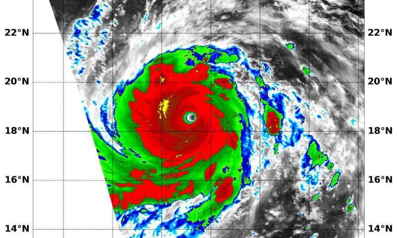 NASA finds Super Typhoon Jebi undergoing eyewall replacement