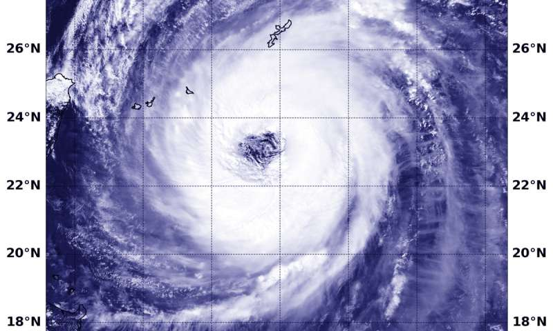 NASA finds Trami an organized, wide-eyed typhoon